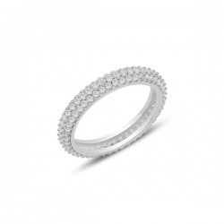 4mm žiedas su 3 cirkonių...