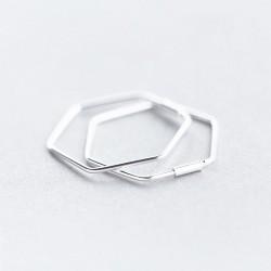 2 cm sidabrinės šešiakampės...