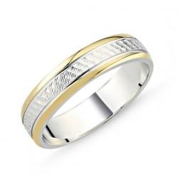Sidabro žiedas auksuotais...