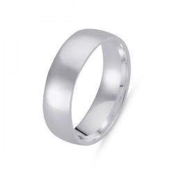 6mm sidabro žiedas klasikinis