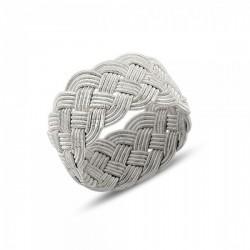 Pintas sidabro žiedas