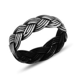 Pintas tamsinto sidabro žiedas