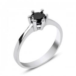 Žiedas juoda 5 mm akute...