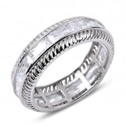 Žiedas su stačakampiais...