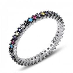 2mm sidabrinis žiedas su...