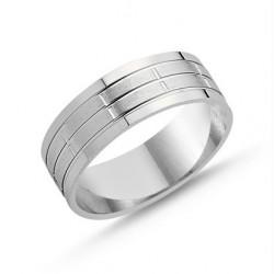 Sidabrinis rodžiuotas žiedas