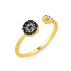 Sidabrinis auksuotas žiedas
