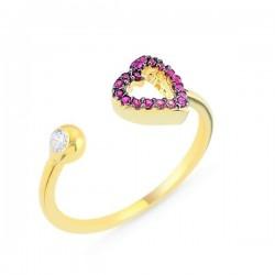 Sidabrinis auksuotas žiedas...