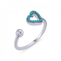 Sidabrinis žiedas su turkio...