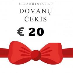 20 € DOVANŲ ČEKIS