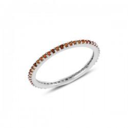 Sidabrinis 1mm žiedas su...