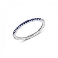 1mm sidabrinis žiedas su...